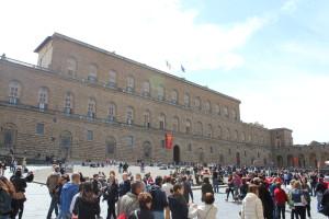Palazzo Pitti. Niet mooi, wel indrukwekkend.