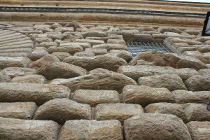 Muur van Palazzo Pitti. Speels effect :)